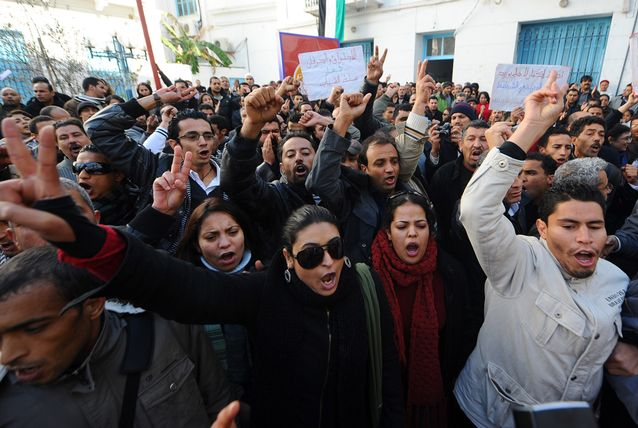 Tunisia+protests
