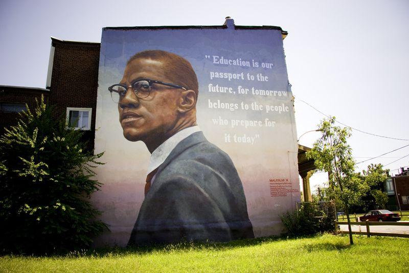 Malcom mural