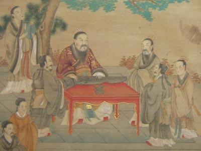 Confucius-teaching-students