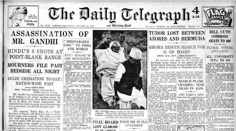 Gandhi assassination Daily Telegraph