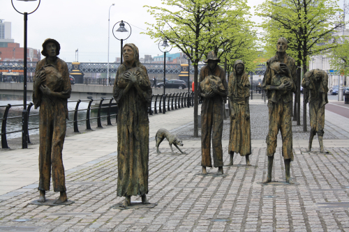 Potato famine memorial