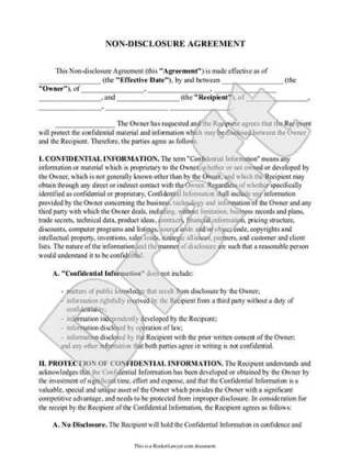Non Disclosure Agreements | Nondisclosure Agreements Ndas Public Officials Updated