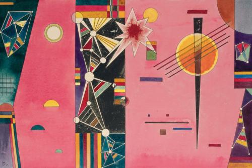 Wassily-Kandinsky-Rosa-Rot-1927