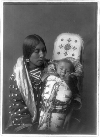 Crow Indian mother and child 2