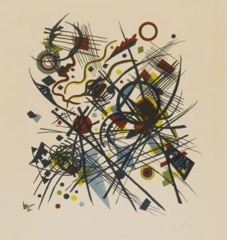Wassily-Kandinsky-Lithographie-für-die-vierte-Bauhausmappe-1922
