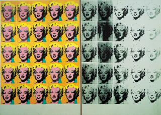 Warhol Monroe silk screen