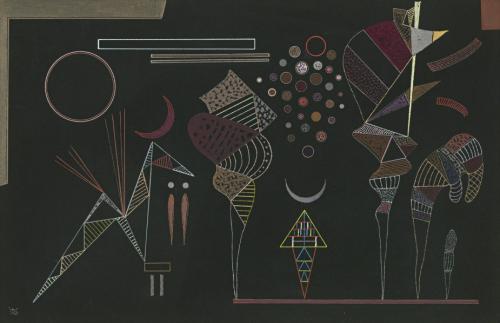 Wassily-Kandinsky-Étude-pour-Contrastes-Réduits-1941